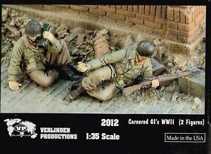 1-35-RESIN-FIGURES-VERLINDEN-2012-CORNERED-GI-S-WWII-NEW