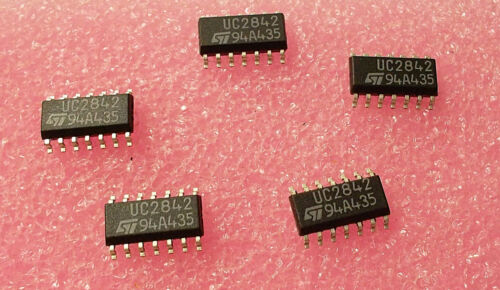10 Stück//10 pieces UC2842D  CURRENT MODE PWM CONTROLLER IC SO-14 UC3842 NEW ~