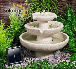 cascade fontaine solaire classique 3 niveaux ivoire. Black Bedroom Furniture Sets. Home Design Ideas
