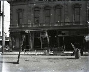 San-Francisco-1906-Earthquake-Oddfellow-Building-antique-glass-photo-negative