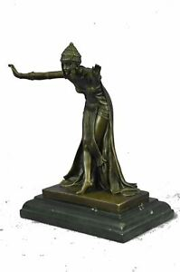 SIGNED-D-H-Chiparus-bronze-art-deco-dancer-sculpture-Nouveau-Marble-Figurine