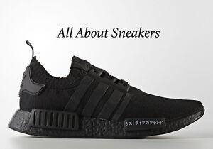 Image is loading Adidas-NMD-R1-Primeknit-Japan-034-Triple-Black-