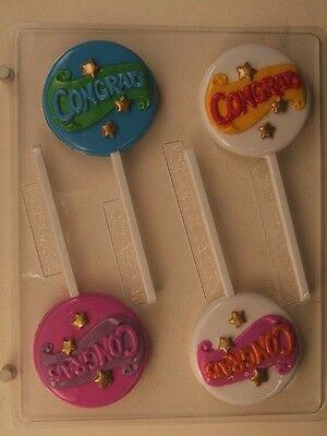 Félicitations sucette plastique transparent Chocolat Candy Mold G019