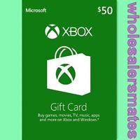 Xbox Live 50 Usd $50 Guthaben Karte Xbox One / 360 Gift Card Code Für Us Store