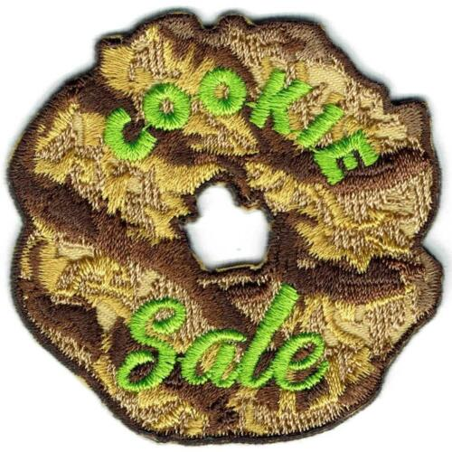 Girl Boy COOKIE SALE cookies samoas seller Fun Patches Crest Badge SCOUTS GUIDE