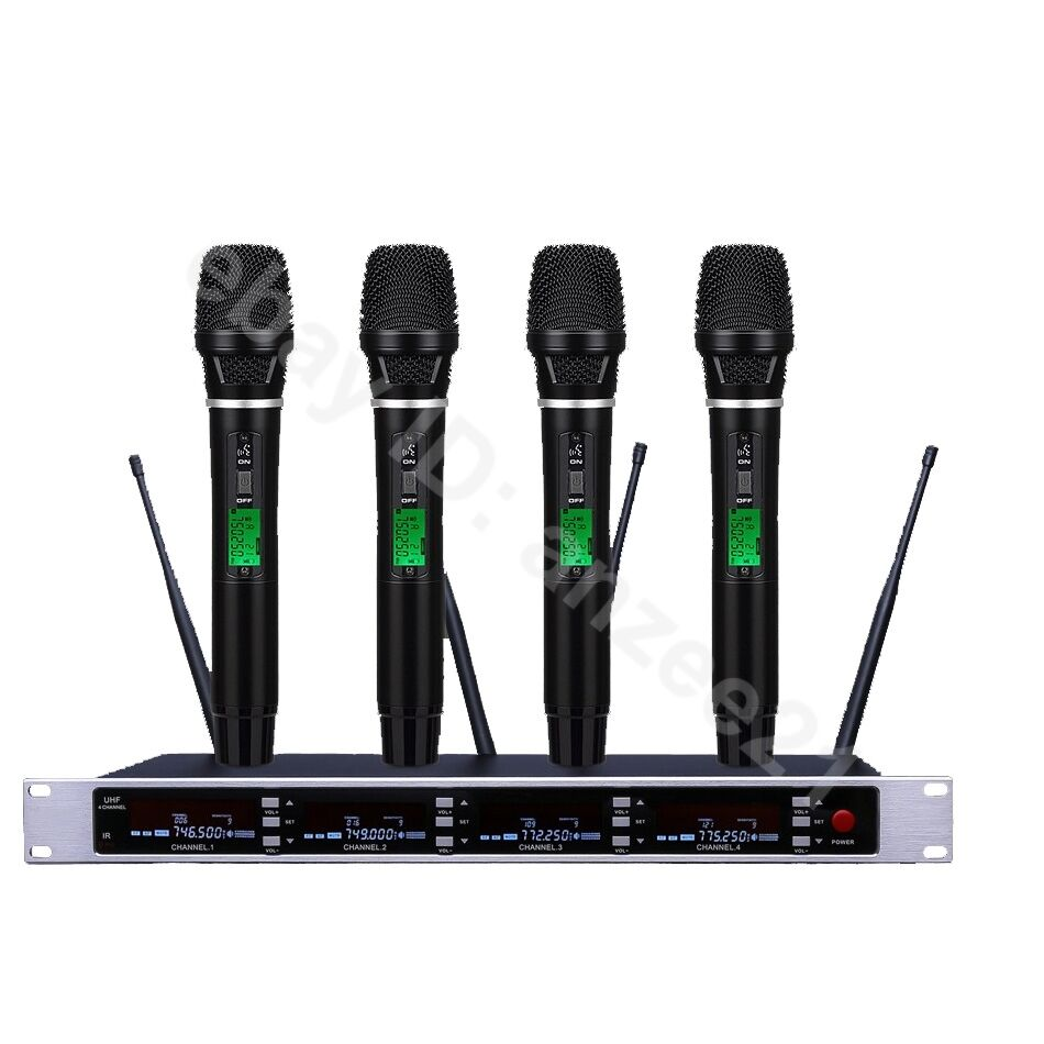 Digital Inalámbrico Portátil cantando Pro UHF Sistema de Micrófono Micrófono Micrófono Música para grandes etapa  mas preferencial