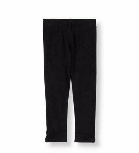 Size 12 to 18 Months Black Janie and Jack Toddler Girls Bow Cuff Leggings
