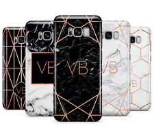PERSONALISED ROSEGOLD MARBLE/INITIALS PHONE CASE FOR SAMSUNG GALAXY S8 PLUS