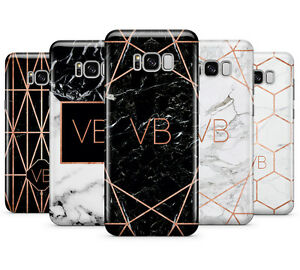 online retailer 2146f 017a4 Details about PERSONALISED ROSEGOLD MARBLE/INITIALS PHONE CASE FOR SAMSUNG  GALAXY S8 PLUS