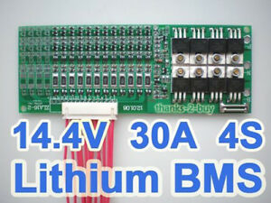 30A Balance Battery Protection Board BMS PCB For 14.8V 4S 4Packs Li-ion Cell **