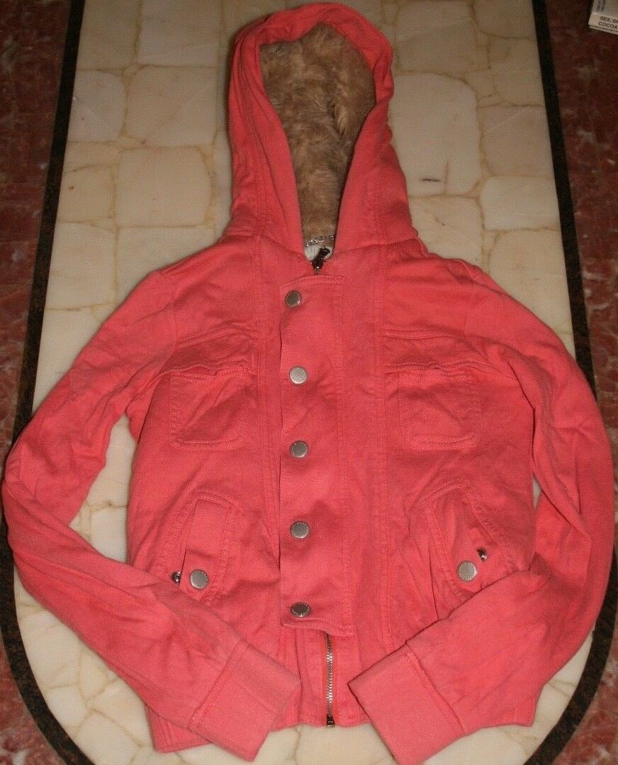 Marc by Marc Jacobs Coral Zip Up Hoodie (XS, lined at torso)