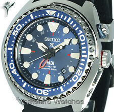 SEIKO PROSPEX PADI KINETIC GMT PRO DIVERS WITH SILICONE BUCKLE STRAP SUN065P1