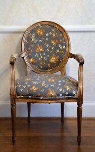 Details About Vintage French Neoclassical Chair