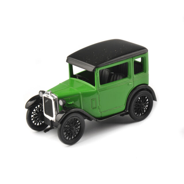 AUSTIN SEVEN 1/43 Scale Alloy Diecast Classic Green Vehicles Car RN Saloon Model
