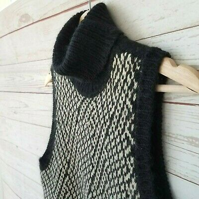 Kors Michael Kors Womens Large Merino Wool Mohair Knit Sweater Turtle Polo Neck Ebay