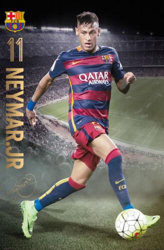 Poster 61x91,5 cm Barcelona Neymar Action 15//16