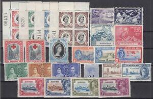 C2676-BRITISH-BAHAMAS-1917-1959-MINT-SEMI-MODERN-LOT-CV-110