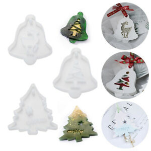 1pc-Christmas-Tree-Silicone-Mold-Snowflake-Elk-Mould-Jewelry-Making-Mold-Craft
