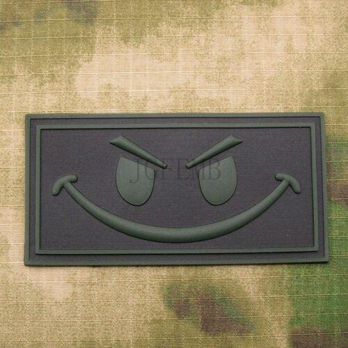Devgru SealTeam Smiley Face Morale Military Tactics 3D PVC Patch Badges