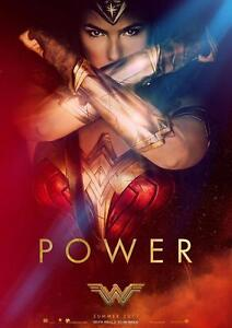 WONDER WOMAN POSTER DC Marvel Movie Wall Art Pic Photo Poster A3 A4