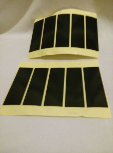 4 weatherproof number plate double sided sticky pads Registration fixing 75X25X1