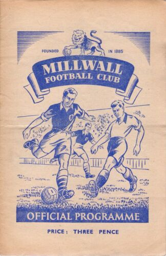 195051 Millwall v Bristol City 9.9.1950