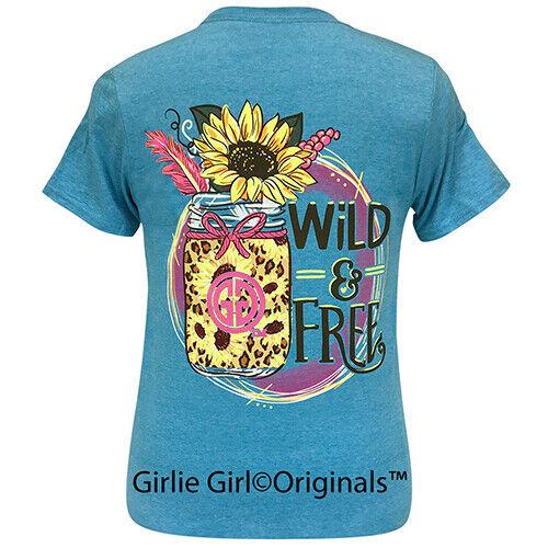 Girlie Girl Originals Tees Wild & Free Heather Sapphire Short Sleeve T-Shirt - 2287