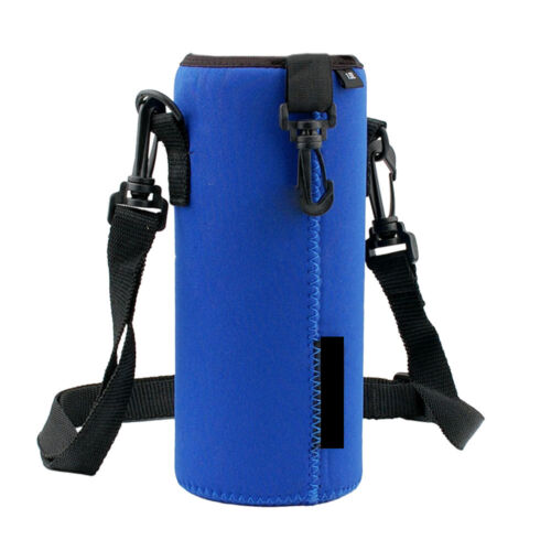 1000ML Water Bottle Carrier Insulated Cover Bag Holder Strap Pouch Outdoor+Strap