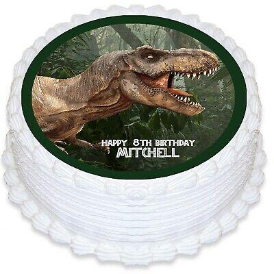 Dinosaur Round Edible Icing Cake Topper PRE-CUT