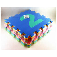 10-tlg Kinder Puzzlematte Spielmatte Bodenmatte Spielteppich Buchstabe 29x29cm