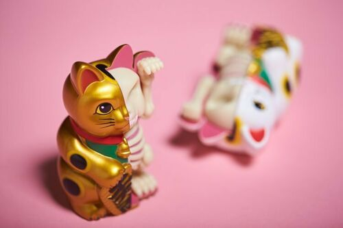 New 4D Master XXRAY Dissected Fortune Cat Jason Freeny Gold Ver