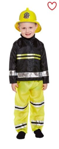 Toddler Fancy Dress Fireman Costume Book Week Boys Outfit