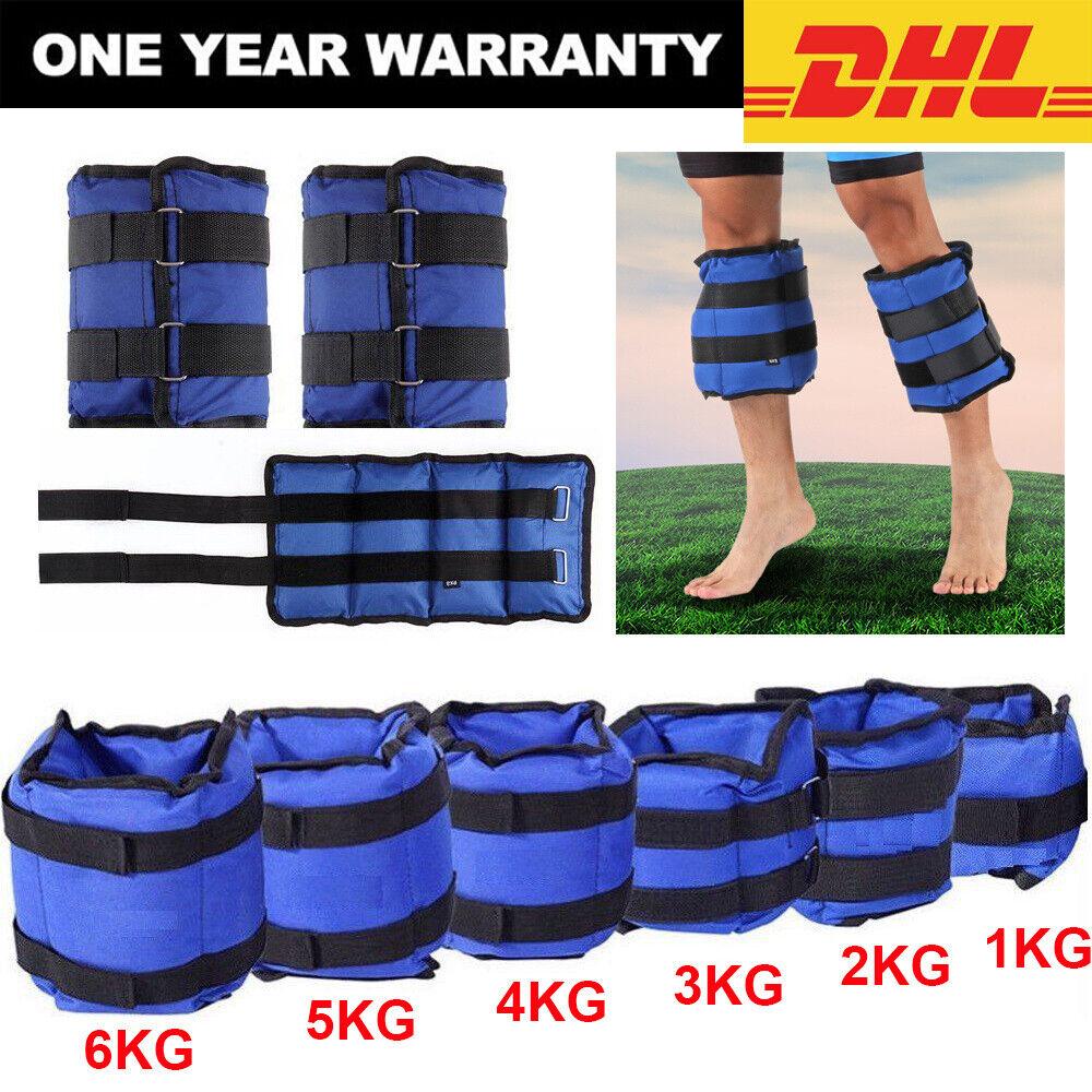 1Set Gewichtsmanschetten Laufgewichte für Arm und Bein 1KG 2KG 3KG 4KG 5KG 6KG