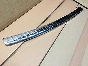 baguette protection seuil de coffre chrom e inox volkswagen touran 2003 2010 ebay. Black Bedroom Furniture Sets. Home Design Ideas