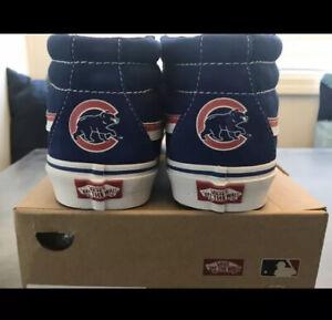 Vans-MLB-Chicago-Cubs-Classic-Blue-Rare-2016-World-Series-Champs-Men-s-Size-8-5