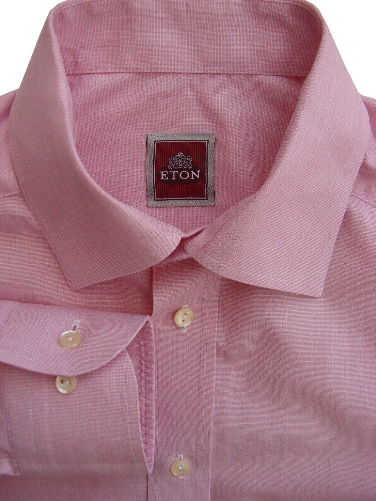 ETON Shirt Mens 15 S Pink