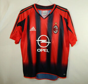 AC-Milan-ACM-Soccer-Jersey-Opel-ADIDAS-Climacool-Size-YOUTH-LARGE-L-14-16