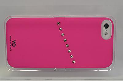 White Diamonds Handy Case iPhone 5 Schutz Schale Skin Design Cover Pink