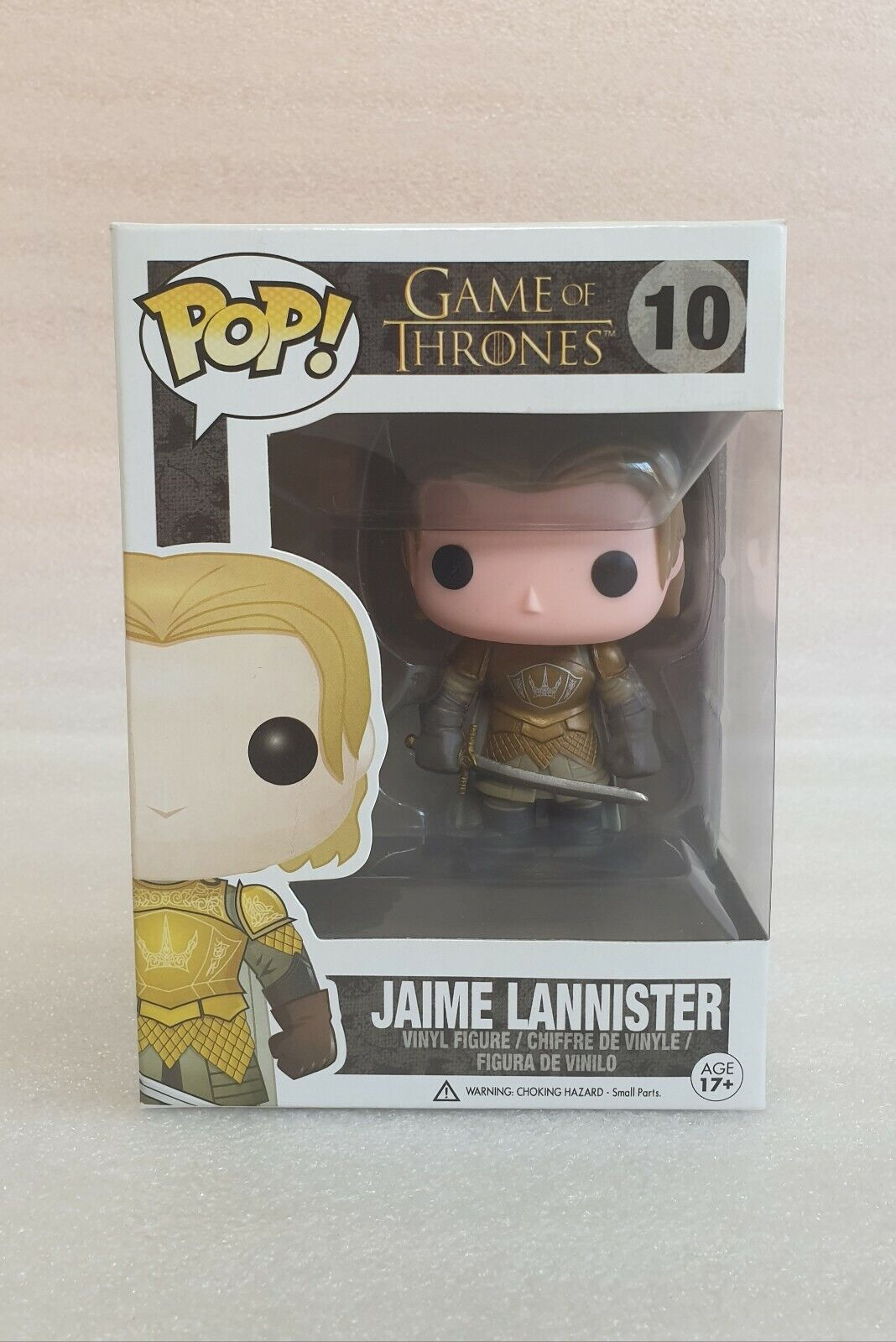 Funko Pop Vinyl spel of Thrones Jaime Lannister Got fri Post in Hard Case