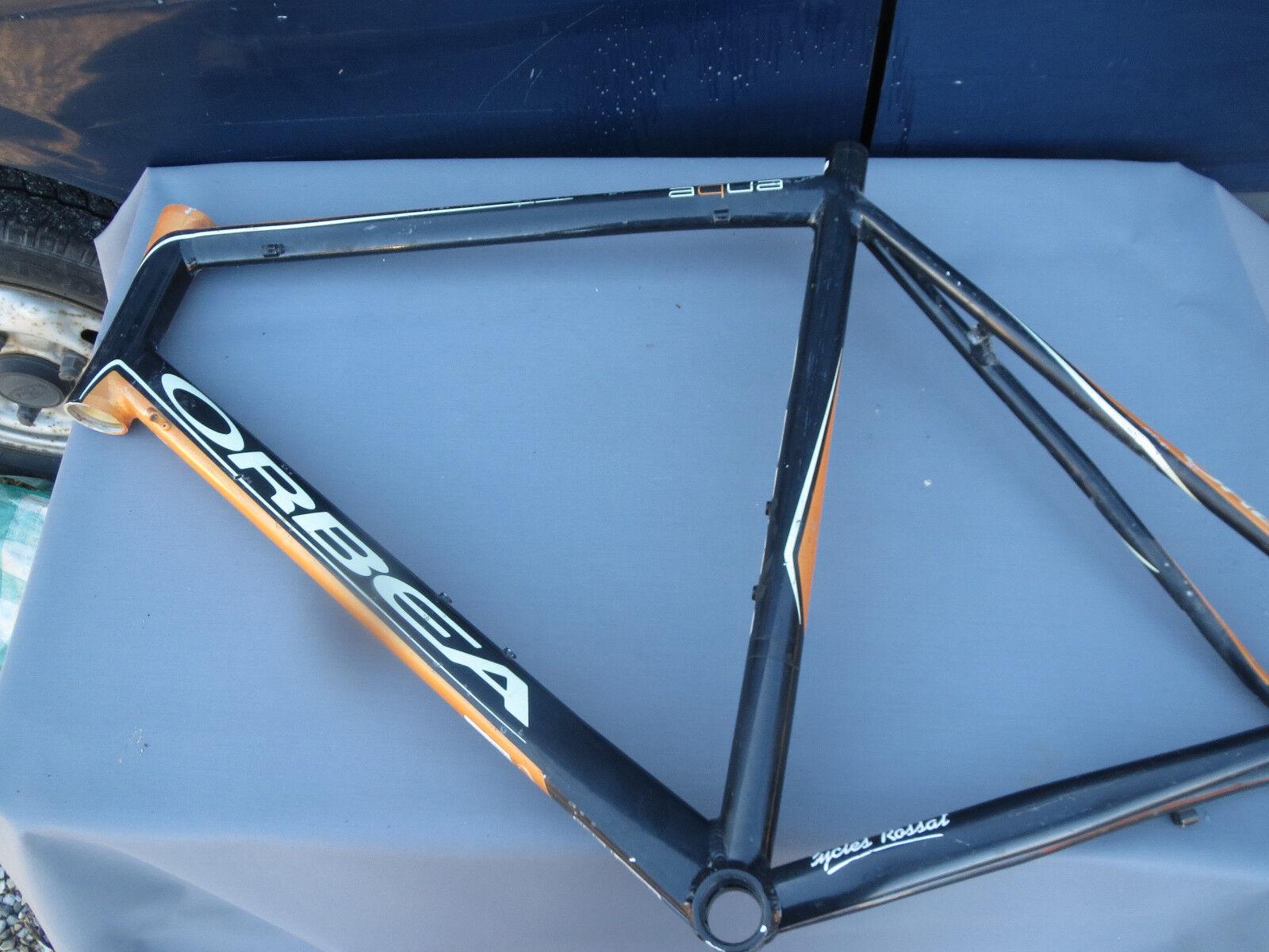 Old race bike frame orbea aluminium bike frame fixie