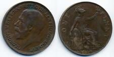 George V Penny - 1 random coin from 1914-1918 War Years UK Great Britain WW1