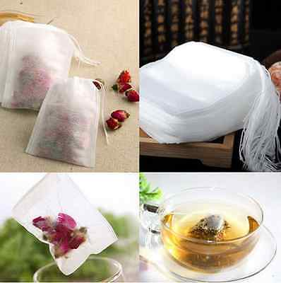 100PCS Empty Tea Bag new Heal Seal Filter Paper for Tea coffee spoon US