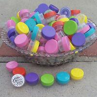 30 Asstd Color Lip Gloss Jars 1 Tsp Creme Container Posh Samples 3301 Decojars