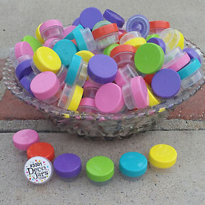 30-Asstd-Color-Lip-Gloss-JARS-1-tsp-Creme-Container-Posh-Samples-3301-DecoJars