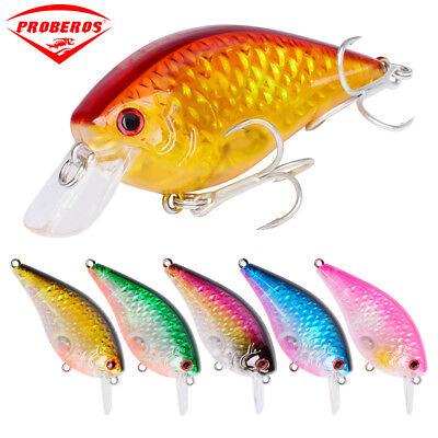 High Quality 6pcs Lot Paint Fishing lures Crank Bait 4.3cm//4.4g Crankbait Hooks