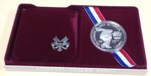 1983P USA Los Angeles Olympic Silver Dollar Commemorative UNC Dollar Box COA