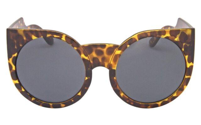 1a81bd1ae3 Oversized Cat Eye Sunglasses Celebrity Big Bold Round Frame Eyewear ...
