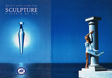 PUBLICITE ADVERTISING 104  1994  NIKOS  parfum femme ( 2p)  SCULPTURE