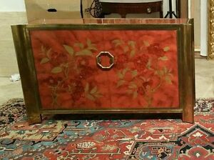Image is loading RARE-IMPORTANT-MASTERCRAFT -CHINOISERIE-FAUX-TORTOISE-SHELL-COMMODE-