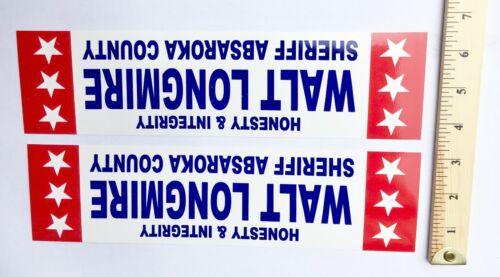 Walter Walt Longmire Sheriff Campaign Bumper Sticker  2 BUMPER STICKERS
